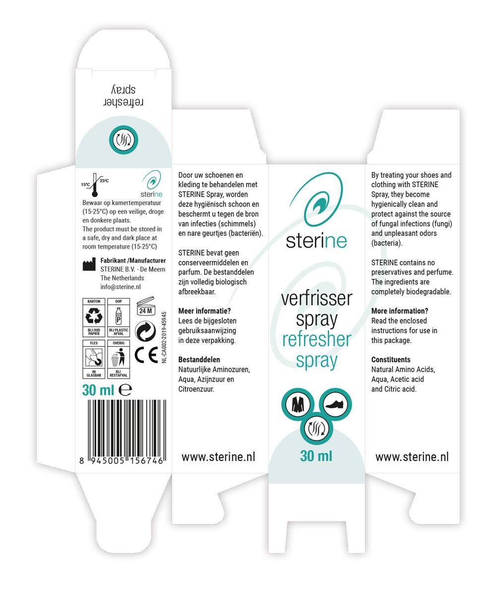 Verpakking Sterine verfrisser spray